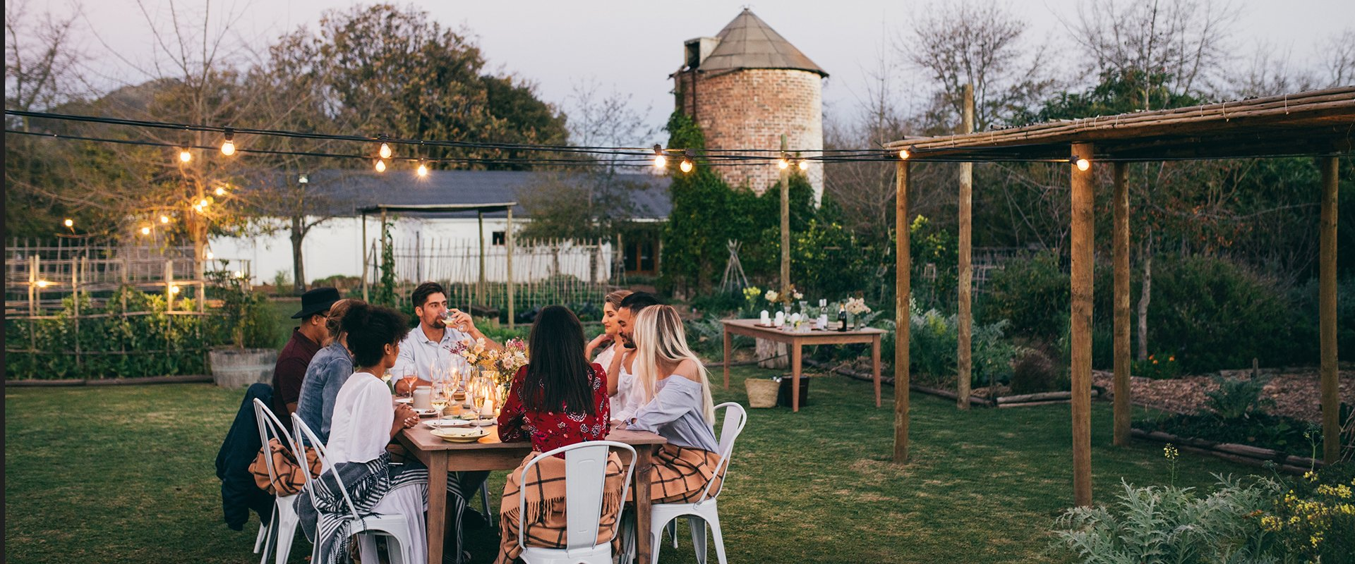 Outdoor dinner party similar to a private Teddish Dinner double date